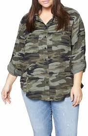camo blouse s sanctuary tops tees nordstrom