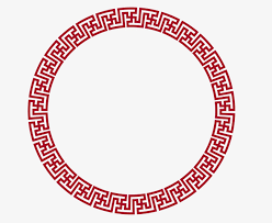 chinese design vector circular chinese border png picture round frame chinese