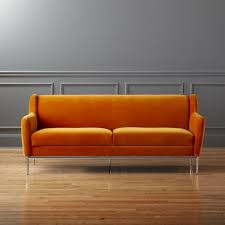Orange Sofa Chair Modern Sofas And Couches Cb2