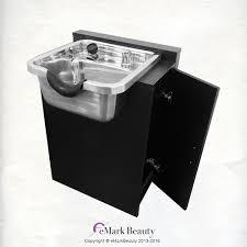 Shampoo Cabinet Extra Wide Shampoo Bowl Towel Storage Cabinet Reclining Chair