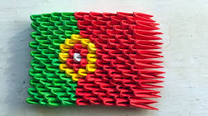 What Are The Colors Of The Portuguese Flag 3d Origami Flag Of Portugal Portuguese Flag Tutorial Youtube