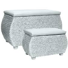 white storage trunk white bench exclusive to large white wicker
