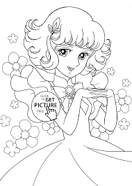 lydie anime coloring pages for kids printable free coloing