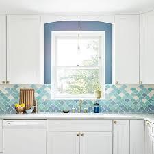 French Blue And White Ceramic Tile Backsplash Beautiful Handmade Tiles Made In America Mercury Mosaics