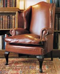 Queen Anne Wingback Chair Leather Chairs Of Bath Chelsea Design Quarter Leather Queen Anne