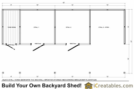 backyard horse barns 3 stall horse barn plans with lean to and tack room 3rd bay open