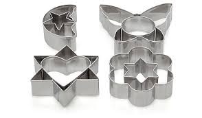 cookie cutters 8 pack stainless steel assorted shape cookie cutters home
