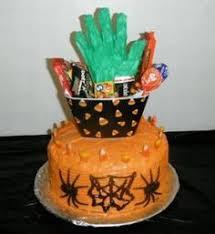 halloween cake colors green orange purple and fuchsia black