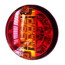 universal led tail lights emark 140mm 20led trailer truck stop tail lights amber left right