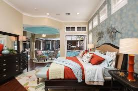 interior wallpaper for home contemporary master bedroom with flush light by luxury home