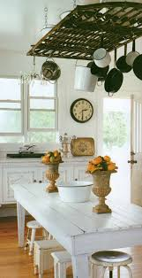 White Kitchen Island Pot Rack From Old Gate K I T C H E N