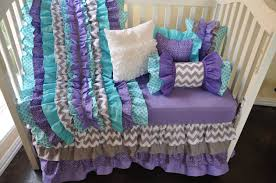Teal And Purple Crib Bedding Furniture Popular Purple Crib Bedding Sets Cool Baby 5