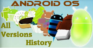 android operating system history of android os versions in this large image
