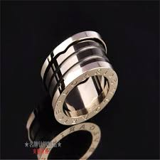 bvlgari black rings images Bvlgari b zero1 3 band ring in 18kt pink gold with black ceramic jpg