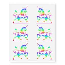 unicorn temporary tattoos zazzle