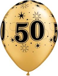 50th birthday balloons balloons 50th birthday gold with black sparkle pack 6
