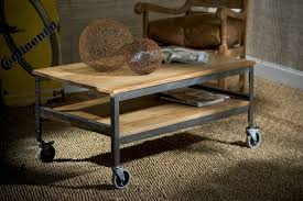 wood coffee table with wheels wood and metal coffee table with small wheels coffee tables