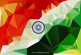 Geometric Flag Indian Flag Background Vector Design 123freevectors