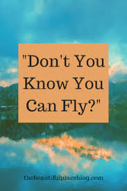 you can fly don t you know you can fly the beautiful place