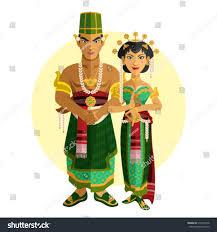 indonesian central java wedding ceremony stock vector 315453518