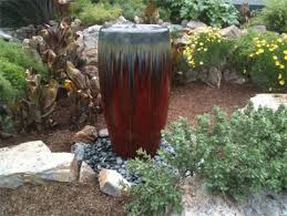 Garden Fountains And Outdoor Decor Water Garden Fountain Using Pottery Water Pots Pinterest