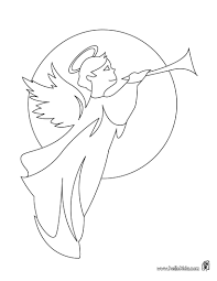 angels coloring pages page angel image visits mary for