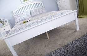milan bed company madrid low 4ft small double wooden bedstead