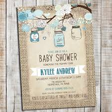 elegant and rustic baby boy shower invitation can also be