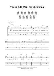 you u0027re all i want for christmas sheet music for piano and more