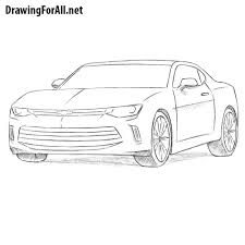 Dodge Challenger Drawing - how to draw a chevrolet camaro drawingforall net