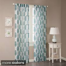 White And Teal Curtains Park Emerson Arabesque Curtain Panel 84 Grey Grey