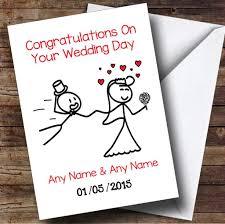 wedding card for groom doodle dragging groom personalised wedding card the