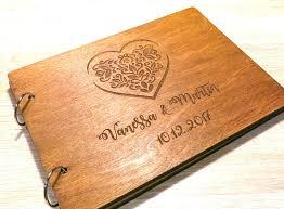 Engraved Wedding Albums Custom Wooden Wedding Book Wedding Album Laser Engraved
