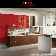 cuisine integre intégré bois grain mélamine armoires de cuisine avec highg