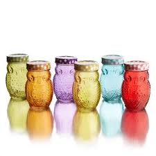 owl kitchen canisters owl colored jars with lid set of 6 free shipping on orders