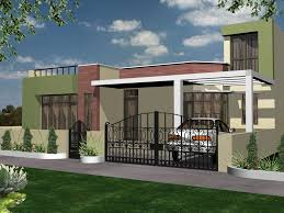 Modern Home Decor Online Interesting Design Of The Modern Block Style House That Has Green
