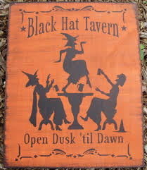 witchcraft black hat tavern halloween by sleepyhollowprims on zibbet