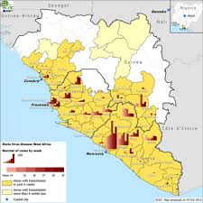 Map West Africa by Epidemiological Update Outbreak Of Ebola Virus Disease In West