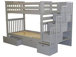 Height Of Bed Frame Bunk Beds Stairway Gray 2 Drawers 849