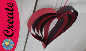 craft activity for kids hanging heart for your valentine youtube