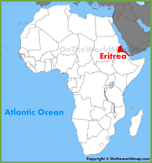 africa map eritrea eritrea location on the africa map