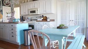 Cottage Chic Kitchen - how to choose warm or cool paint white lace cottage