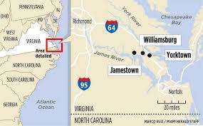 Jamestown Virginia Map Virginia U0027s Historic Sites Go Hands On Miami Herald