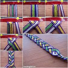 thread bracelet diy images How to diy friendship bracelet leaves pattern with video tutorial jpg