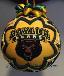 baylor bears ornament made from baylor fabric baylor bears