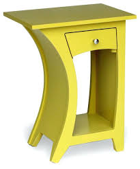 Curved Nightstand End Table Chic Curved Nightstand End Table For Your Space Monikakrl Info