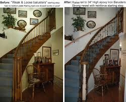 Fitting Banister Spindles Stair Cozy Picture Of Interior Stair Decoration Using Rustic