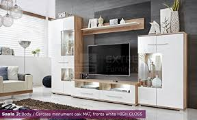 White Gloss Living Room Furniture Uk Living Room High Gloss Furniture Set Display Wall Unit Tv Unit