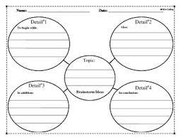 writing brainstorming ideas graphic organizer applied behavior