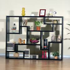 decorations bookshelf with red tone and tapper shape fits the
